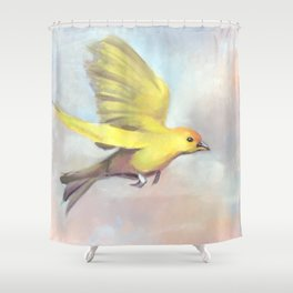 Goldbird Variations One Shower Curtain