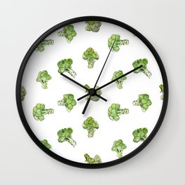 Broccoli – Scattered - Open Wall Clock
