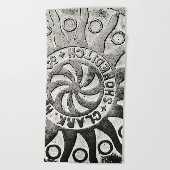 Manhole Cover 4 Beach Towel