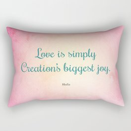 Love is Simply... Quote by Hafiz Rectangular Pillow