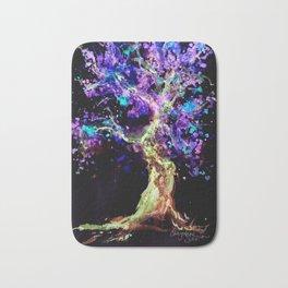 Wild Neon Apple Tree Watercolor by CheyAnne Sexton Bath Mat
