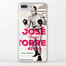 Jose Torres Pionnering Peek-a-Boo Boxing Champion Clear iPhone Case