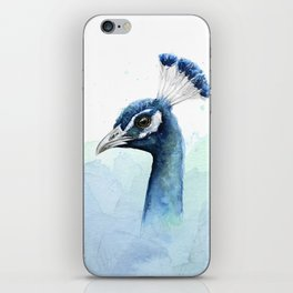 Peacock Watercolor Exotic Bird Animals iPhone Skin