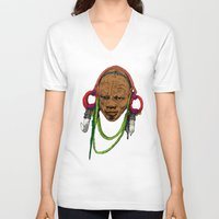 africa V-neck T-shirts featuring AFRICA by ZE-DESIGN