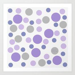 Purple cute dots Art Print