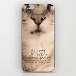 Wise Tabby Cat iPhone Skin