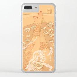 Flower Bath 10 (censored version) Clear iPhone Case