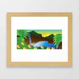 Waterfall #2 Framed Art Print