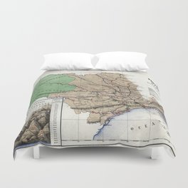 Map of the province of São Paulo - 1886 Duvet Cover