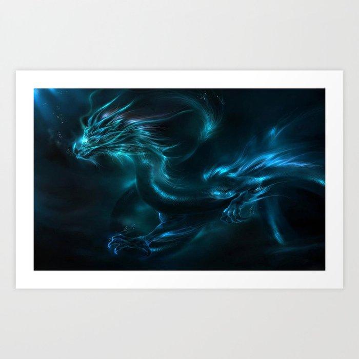 Blue dragon Kunstdrucke