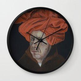Self Portrait with a Turban Wall Clock