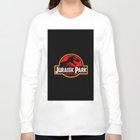 jurassic park Long Sleeve T-shirts featuring Jurassic Park by MrWhite