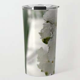 Snow on Snowdrops Travel Mug