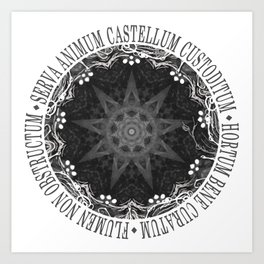 Castellum - The Absence of Light Art Print