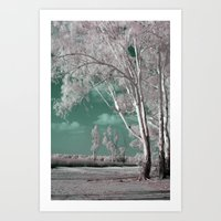 Alien Lanscape Art Print