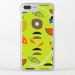 Modern decor with fruits and flowers Clear iPhone Case