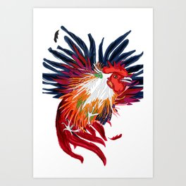 Fighting Cock Art Print