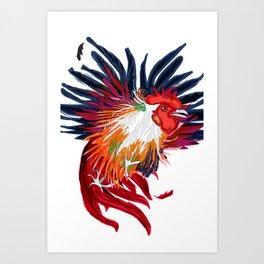 Fighting Cock Art Print