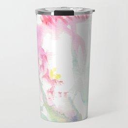 Pink Watercolor Flowers Travel Mug