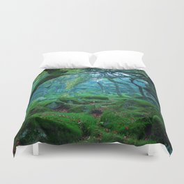 Enchanted forest mood Duvet Cover