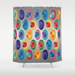 Industrial vibration Shower Curtain