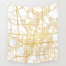 ORLANDO FLORIDA CITY STREET MAP ART Wall Tapestry
