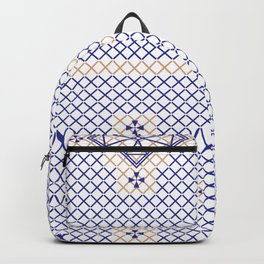 Cross Embroidery Backpack