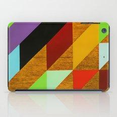 triangles on wood iPad Case