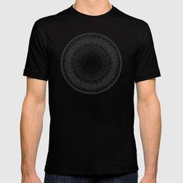 Black and White Mandala Pattern T-shirt