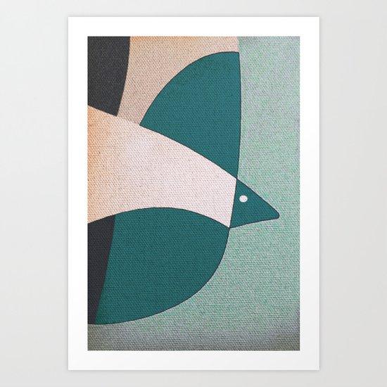L'uccello in Volo Art Print