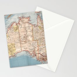 Australian Topography Map (1905) Stationery Cards