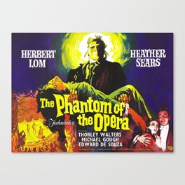 vintage horror movie poster Canvas Print