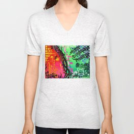"""""""ACTION EXPRESSES PRIORITIES"""" Unisex V-Neck"""