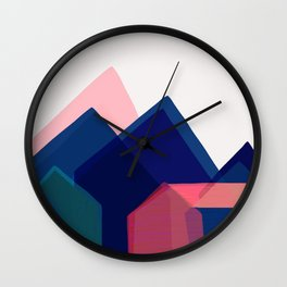 Houses abstract Wall Clock