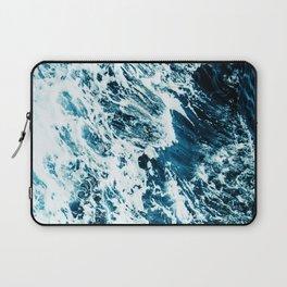 Water, Sea, Ocean, Wave, Blue, Nature, Modern art, Art, Minimal, Wall art Laptop Sleeve