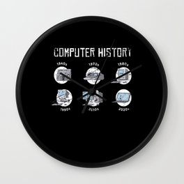 Computer History Computer Scientist Hacker It Wall Clock