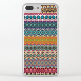 Vintage tribal aztec pattern Clear iPhone Case