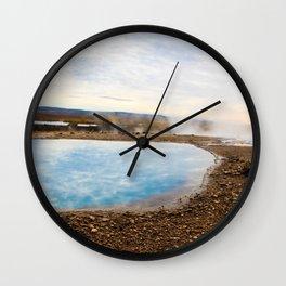 sky reflection - geyser Wall Clock