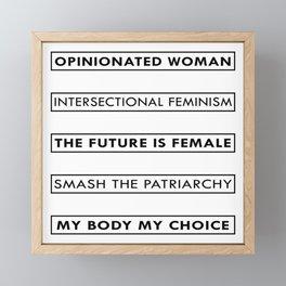 Feminist Statement Art, Stickers, Shirts, Mugs, Prints... Framed Mini Art Print