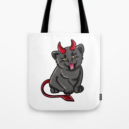 Evil Cat Devil Kitty devilish Present gift Tote Bag