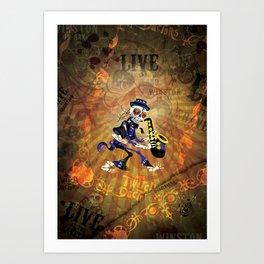 Winston - Sax. The Twitch Doctors Art Print