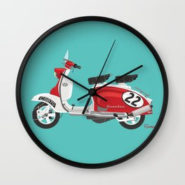 Scooter 22 Racer Wall Clock