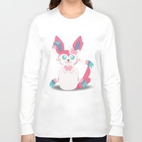 sylveon Long Sleeve T-shirts featuring Evolution Bobbles - Sylveon by creativeesc