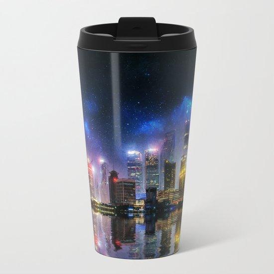 Shanghai Skyline Metal Travel Mug