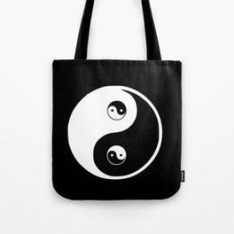 Ying yang the symbol of harmony and balance- good and evil Tote Bag