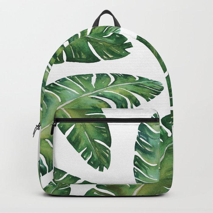 Tropical Banana Leaves #society6 #buyart Backpack