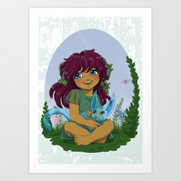Eniau and spirit - Spirit pal Art Print