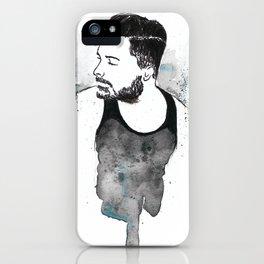 bearded guy iPhone Case