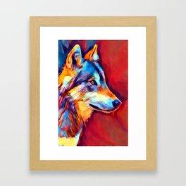 Wolf Portrait 2 Framed Art Print