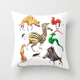 African animals 2 Throw Pillow